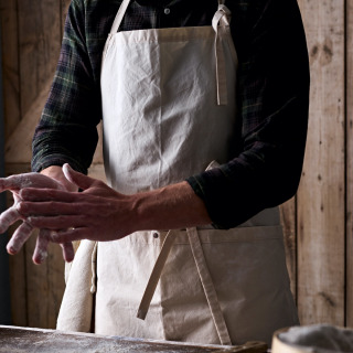 BakeryBits Full Bib Waxed Cotton Baker's Apron