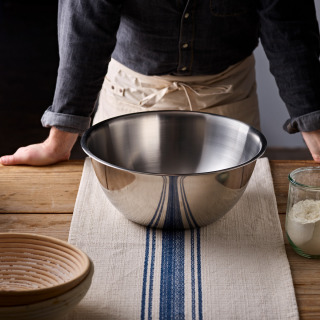 Stainless Mixing Bowl, Rolled Top, 30cm or 36cm diameter