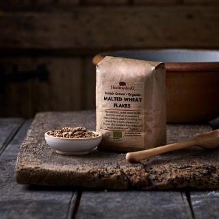 Hodmedod's British Grown Organic Malted Wheat Flakes