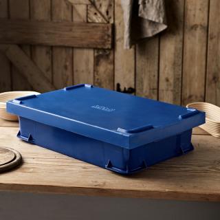 Uni-Box with Lid, 600x400x145mm - Blue