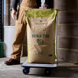 Viron T130 Organic Stoneground T130 Dark Rye Flour, 25kg