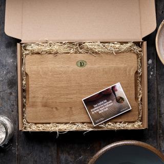 Handmade English Oak Breadboard 41x25cm - Pack