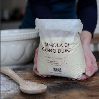 Organic Durum Semolina Flour (Semola de Gran Duro) bag