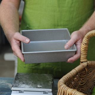 "Professional Glazed 8"" Square Cake Tray"
