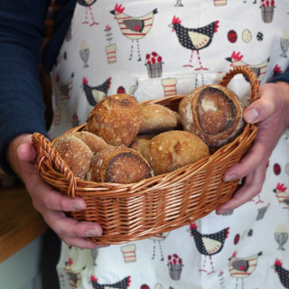 Handmade Bread or Roll Serving Basket 29x20cm
