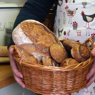 Large Handmade Bread or Roll Serving Basket